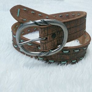 Accessories - Womens Cowgirls Rock Belt: Genuine leather